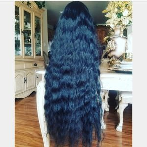 Accessories - Black Curly Lace Front Wig